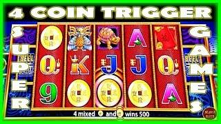 WOW! I TRIGGERED 4 COIN SUPER FREE GAMES ON 5 DRAGONS •️ Deja Vu Slots