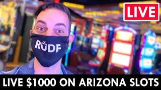 ★ Slots ★ LIVE IN THE CASINO! ★ Slots ★ $1000 on Arizona Slots at Gila River Vee Quiva ★ Slots ★