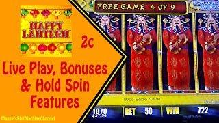2c Lightning Link : Happy Lantern - Great Session Live Play, Bonuses and Hold Spins