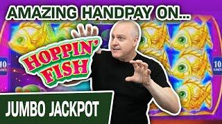 ⋆ Slots ⋆ AMAZING Handpay Jackpot on Hoppin' Fish ⋆ Slots ⋆ HIGH-LIMIT Red Fortune Slots