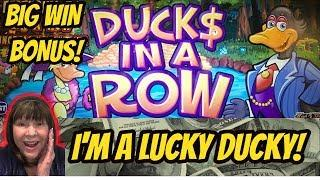 BIG WIN BONUS! DUCKS (MONEY) IN A ROW
