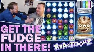 GET THE FUDGE IN THERE - REACTOONZ BIG WIN!