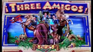 NEW SLOT!  THREE AMIGOS SLOT MACHINE - MAJOR PROGRESSIVE WIN + BONUSES!  By Ainsworth.