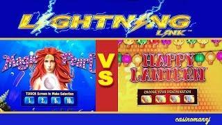 *NEW* - LIGHTNING LINK!  - MAGIC PEARL VS. HAPPY LANTERN SLOT - Slot Machine Bonus