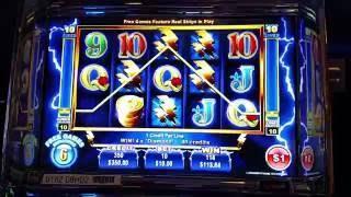 $10 HIGH LIMIT Ainsworth Thundercash BIG WIN Free Spin bonus round