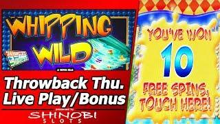 Whipping Wild Slot - Throwback Thursday Live Play and Free Spins
