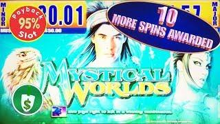 Mystical Worlds 95% payback slot machine, Bonus Retrigger