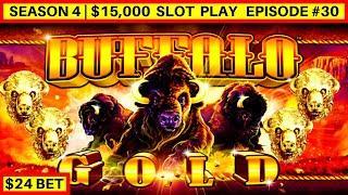 High Limit Buffalo Gold Slot Machine Bonus   Pharaoh's Fortune Slot Bonuses   Season 4   Episode #30