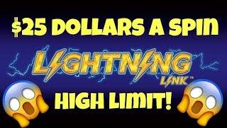 • High Limit Lightning Link Slot Machine • $25 Dollars A Spin Bonuses At Casino Pokies