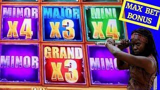 The Walking Dead 2 Slot Machine Max Bet Bonus & 4x Minor Jackpot Won | Sumatran Storm Slot Bonuses
