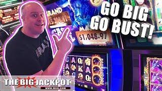 $1,000 •Go BIG or Go BUST! •Cash Bull Slots   The Big Jackpot