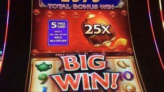 25x BIG WIN Ultimate Fire Link Slot Machine Bonus - China Street Free Spins