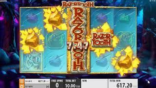 Razortooth slots - 647 win!