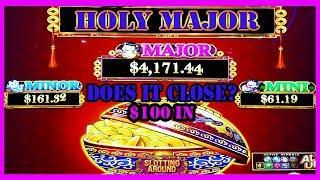 Holy Major! Chasing that progressive on Dancing Drums & getting bonuses!