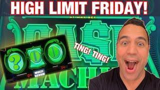 •CASH MACHINE BIG WIN?!? |$20-$50 DRAGON LINK BETS|| HARD ROCK SACRAMENTO HIGH LIMIT FRIDAY! •