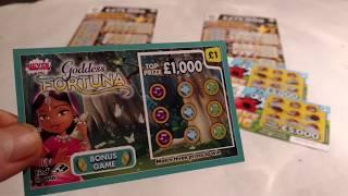 The NEW 20X Cash Scratchcards & Hidden Treasure..Match-3..Goddess Fortune..Cupid Cash.Bug..etc