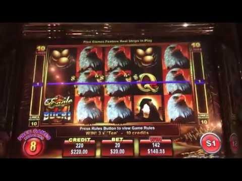 Eagle bucks HANDPAY JACKPOT high limit slots