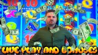 RETURN OF THE ANGRY GAMBLER! Fishin' For Loot Slot Machine LIVE PLAY and BONUSES