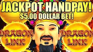 ⋆ Slots ⋆JACKPOT HANDPAY!⋆ Slots ⋆ $5.00 BET!! DRAGON LINK SPRING FESTIVAL Slot Machine (Aristocrat Gaming)