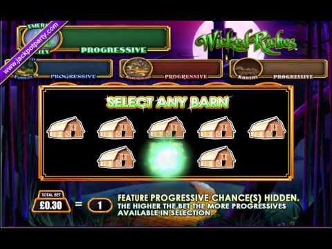 £226 WICKED RICHES PROGRESSIVE (753 X STAKE) WICKED RICHES™ BIG WIN SLOTS AT JACKPOT PARTY
