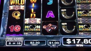 Moon Maidens slot machine free games bonus