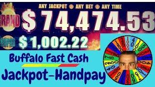 •Jackpot-Handpay•Buffalo Fast Cash Slot Machine•