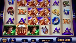 • LIVE SLOT MACHINE PLAY • AWESOME REELS LADY of ATHENS - BIG WIN JACKPOT TIME!