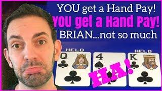 High Limit Poker - No Hand Pay for Brian •Theme Thursdays Live Play • Slot Machine Pokies at Caesars