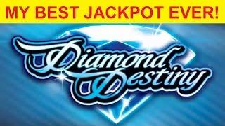 EPIC JACKPOT HANDPAY - Diamond Destiny Slot - OFF THE CHARTS!
