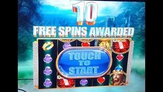 $25 BET - High Limit LIVE PLAY! 2 BONUSES + Progressive on The King and the Sword Slot Machine