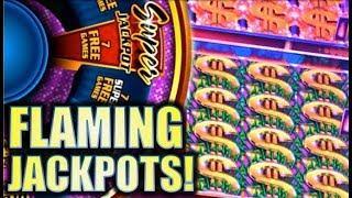 •NEW SLOT! BIG WIN!• QUICK FIRE FLAMING JACKPOTS (Aristocrat) Slot Machine Bonus