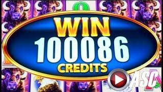 •BUFFALO MANIA! HUGE BIG WIN• WONDER 4 TOWER BUFFALO! SUPER FREE GAMES! | Slot Machine Bonus
