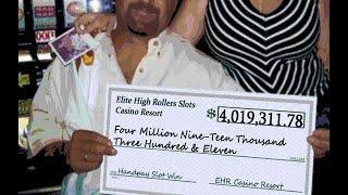 •HUGE $4,019,311 Million Win Vegas High Roller Casino Video Slot Machine Jackpot Handpay Aristocrat