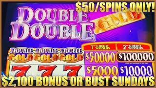 ⋆ Slots ⋆HIGH LIMIT Double Top Dollar & DOUBLE DOUBLE GOLD $50 MAX BET ⋆ Slots ⋆3 Reel Slot Machine