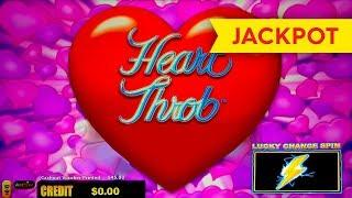 JACKPOT HANDPAY! Lightning Link Heart Throb Slot - $25 Max Bet!
