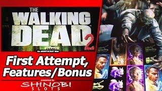 The Walking Dead 2 Slot - First Attempt, Live Play with Random Features and Free Games