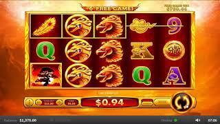 Flaming Phoenix online slots - 1,090 win!