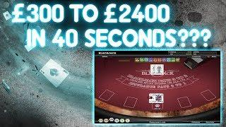£300 to £2,400 in 40 Seconds???