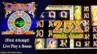 ( First Look & Attempt ) Cleopatra 3 by Igt Live Play and Bonus at Barona Casino Lakeside, CA