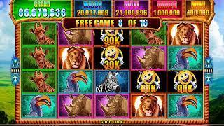 MR CASHMAN CASH SAFARI Video Slot Casino Game with a RETRIGGERED FREE SPIN BONUS