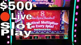 •Live Streaming From San Manuel Casino! $500 Slot Play Buffalo Gold,Timber Wolf,Brazil, 5 Dragons