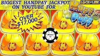 •MASSIVE HANDPAY LOCK IT LINK HUFF N' PUFF $100 SPIN BONUS •THE COSMOPOLITAN LAS VEGAS SLOT MACHINE