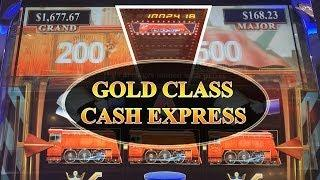 Huge Win! Cash Express Gold Class Aristocrat Slot Machine Bonus