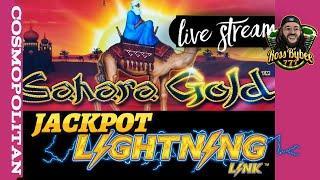 LIVE! High Limit Sahara Gold Lightning Link Slots @Las Vegas Strip JACKPOT!?!??