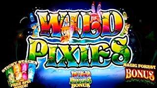 Wild Pixies Slot - $5 Max Bet - ALL FEATURES, NICE SESSION!