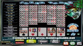 Joker Poker 52 Hand Video Poker