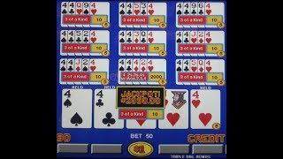 Video Poker Ten Play ~Four 4's w/2~ $2,090 + Credits (11-01-17)