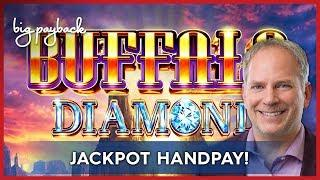 JACKPOT HANDPAY! Buffalo Diamond Slot - HIGH LIMIT ACTION!