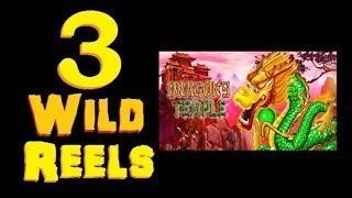 ★ 3 WILD REELS SLOT MACHINE BONUS! Dragon's Temple Slot Machine Bonus (DProxima) ★