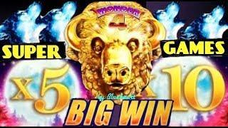 • $9.20 bet SUPER GAME and MORE SUPER GAMES! •  WONDER 4 WONDER WHEEL slot machine BONUS WINS!